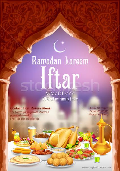 Iftar party Stock photo © vectomart
