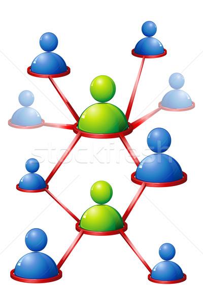 Human Networking Stock photo © vectomart