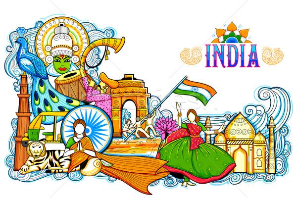 インド 信じられない 文化 多様 祭り ストックフォト © vectomart