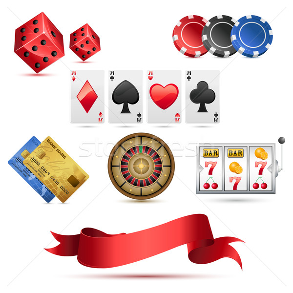 Casino Icons Stock photo © vectomart