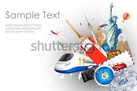 Travel Background Stock photo © vectomart