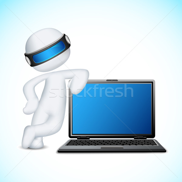 Vector 3d Man with Notebook Stock photo © vectomart