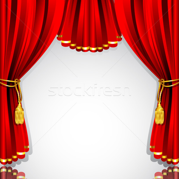 Stage Curtain Stock photo © vectomart
