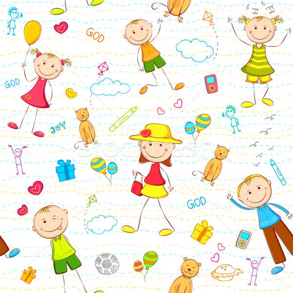 Kid Birthday Background Vector Illustration © Vectomart
