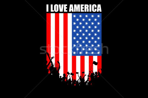 American People Cheering Stock photo © vectomart