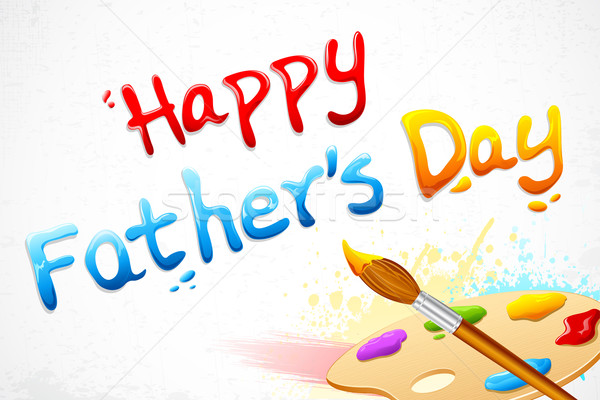 Happy Father's Day written with paint brush Stock photo © vectomart
