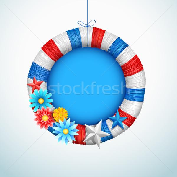 Dördüncü mutlu gün Amerika örnek çiçek Stok fotoğraf © vectomart