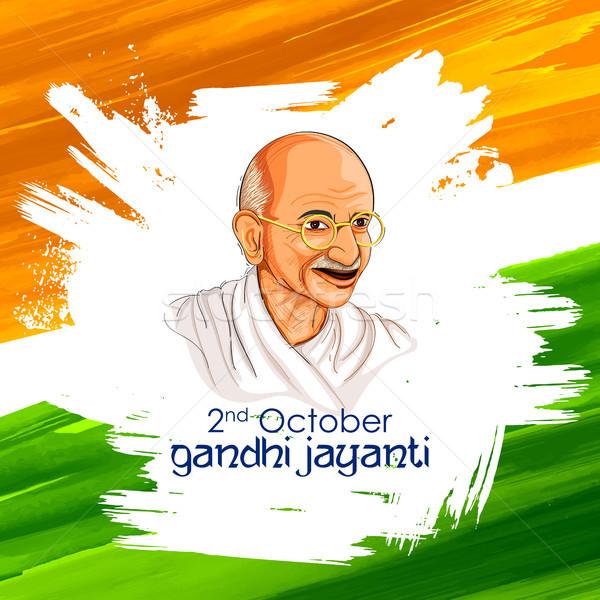 India background for 2nd October Gandhi Jayanti Birthday Celebration of Mahatma Gandhi Stock photo © vectomart