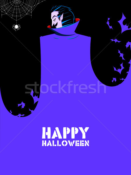 Dracula in Happy Halloween holiday night celebration background Stock photo © vectomart
