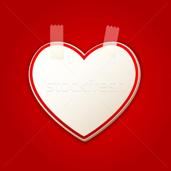 Szív matrica illusztráció szív alak esküvő terv Stock fotó © vectomart