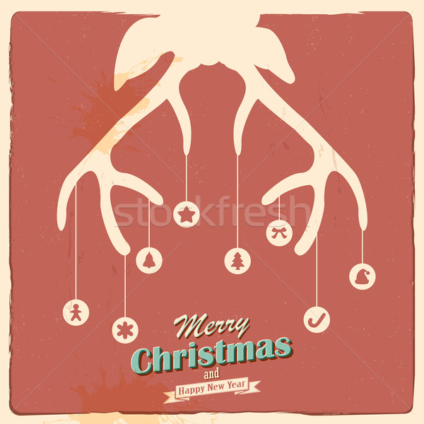 Christmas Reindeer Stock photo © vectomart