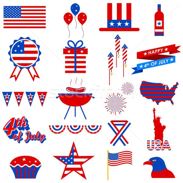 Negyedike dizájn elem illusztráció buli felirat sas Stock fotó © vectomart