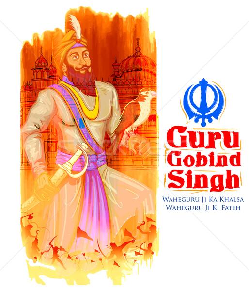 Szczęśliwy guru festiwalu sikh uroczystości ilustracja Zdjęcia stock © vectomart