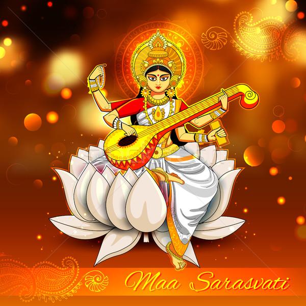 Godin wijsheid Indië festival illustratie kunst Stockfoto © vectomart