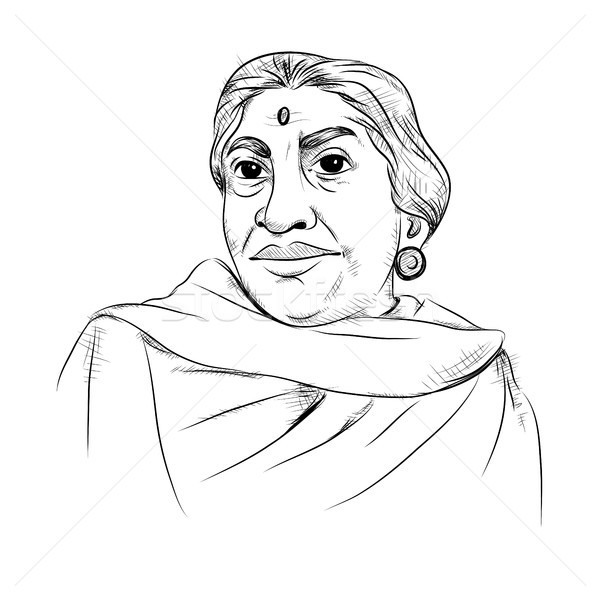 Indian background with Nation Hero and Freedom Fighter Sarojini Naidu Pride of India Stock photo © vectomart