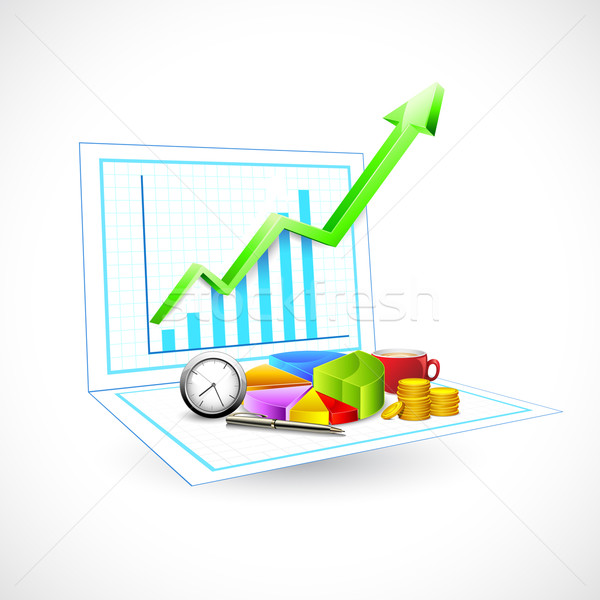 Business Graph Stock photo © vectomart