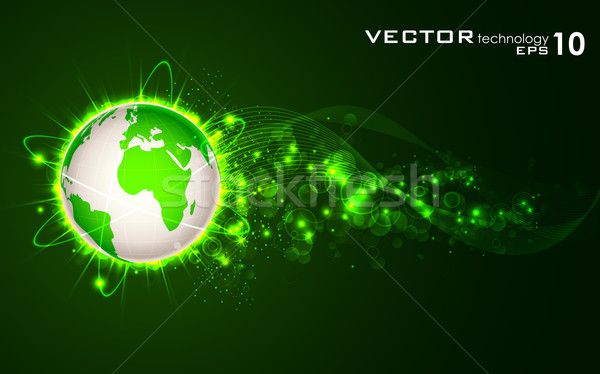 Glowing Earth Stock photo © vectomart