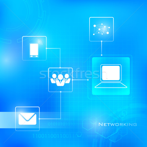 Networking Technology Background Stock photo © vectomart