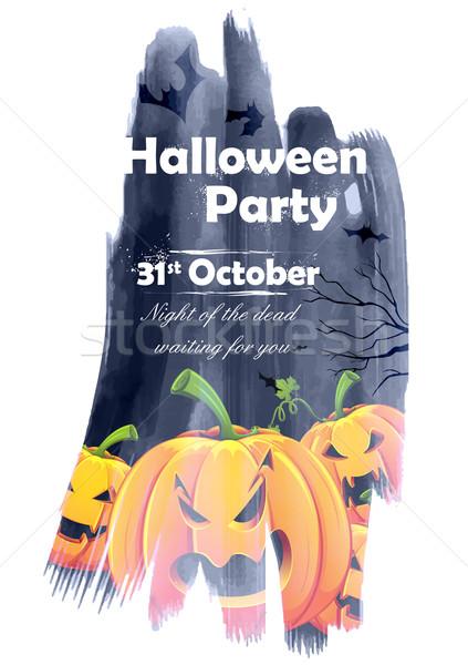 Halloween parti örnek kabak gece gıda Stok fotoğraf © vectomart