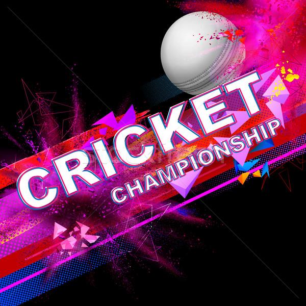 Cricket bal kampioenschap illustratie fitness sport Stockfoto © vectomart