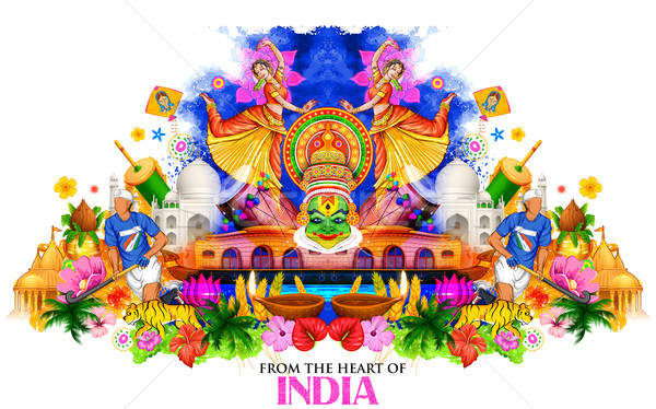 India background showing its culture and diversity Stock photo © vectomart