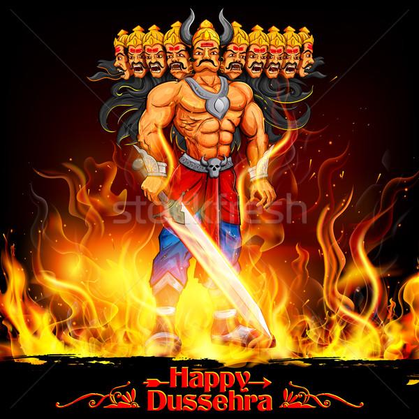Raavan Dahan for Dusshera celebration Stock photo © vectomart