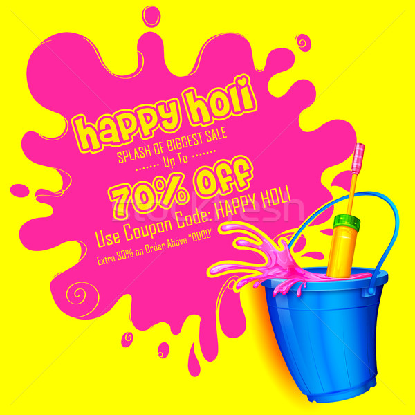 Holi promotional background Stock photo © vectomart