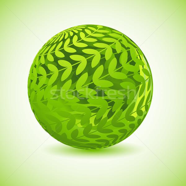 Glossy Green Globe Stock photo © vectomart