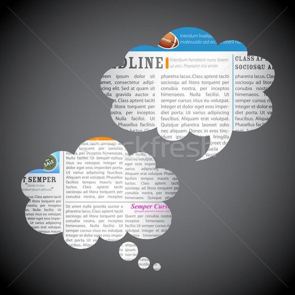 Wiadomości papieru czat bańki ilustracja ramki przestrzeni internetowych Zdjęcia stock © vectomart