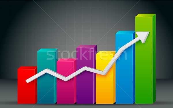 Colorful Bar Graph Stock photo © vectomart