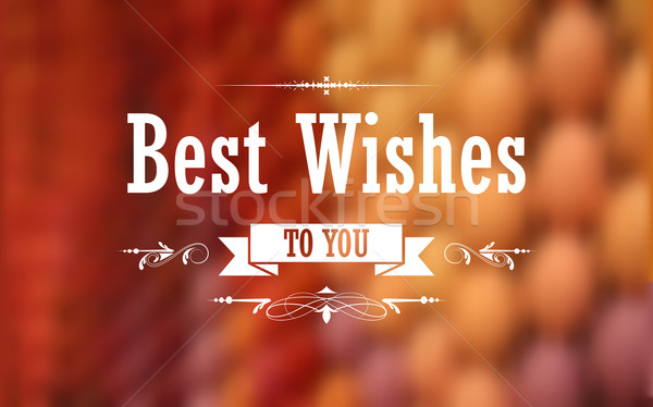 Best Wishes Typography Background Stock photo © vectomart