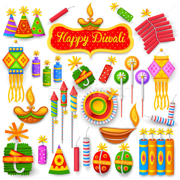 Colorful firecracker for Diwali holiday fun Stock photo © vectomart