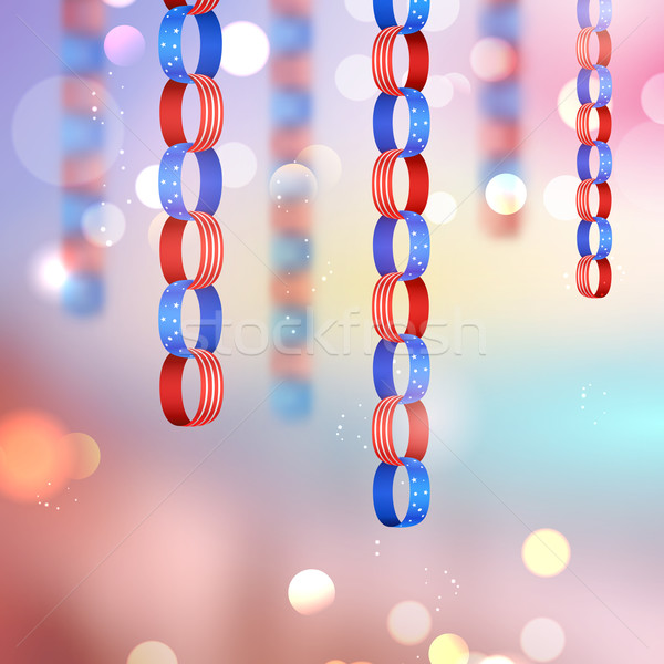 Negyedik boldog nap Amerika illusztráció háttér Stock fotó © vectomart