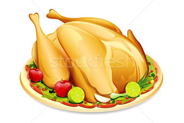 Férias Turquia ilustração comida prato Foto stock © vectomart
