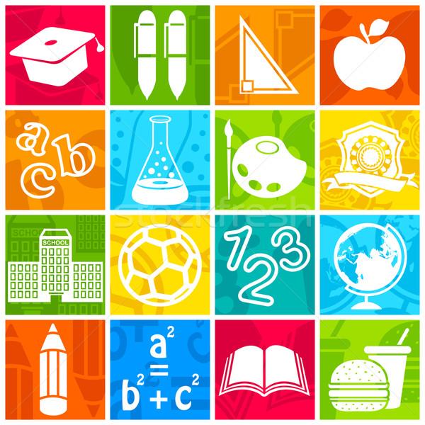 Education icon Stock photo © vectomart