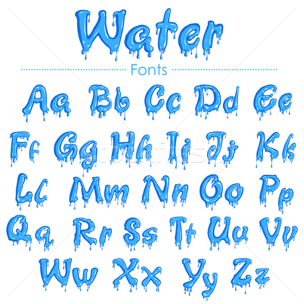 English font in water texture Stock photo © vectomart