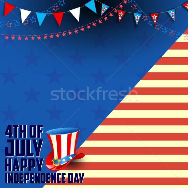 четвертый счастливым день Америки иллюстрация американский флаг Сток-фото © vectomart
