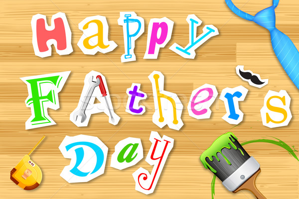 Happy Father's Day Craft Stock photo © vectomart