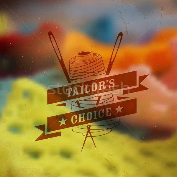 Stock photo: Tailor emblem