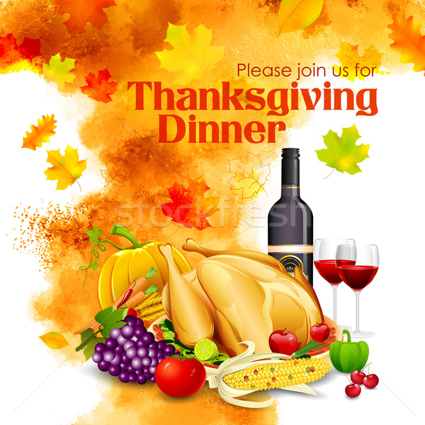 Happy Thanksgiving dinner celebration Stock photo © vectomart