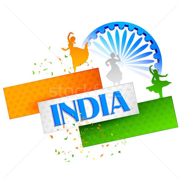 Kultury Indie ilustracja kolorowy inny formularza Zdjęcia stock © vectomart