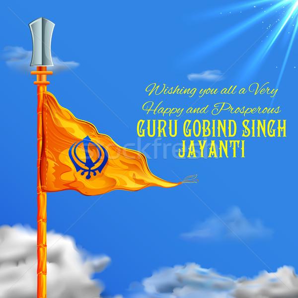 Happy Guru Gobind Singh Jayanti festival for Sikh celebration background Stock photo © vectomart