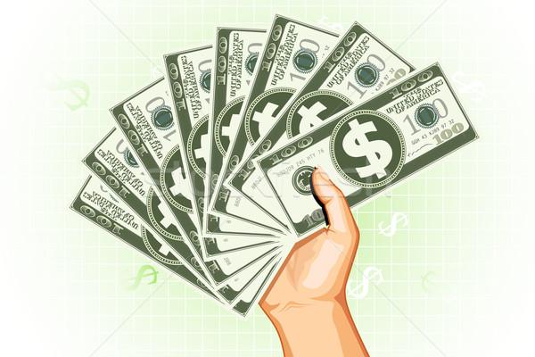 Rijke man illustratie dollar valuta Stockfoto © vectomart