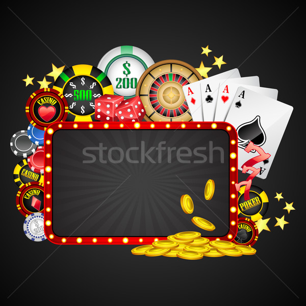 Casino illustration différent objet bord affaires Photo stock © vectomart