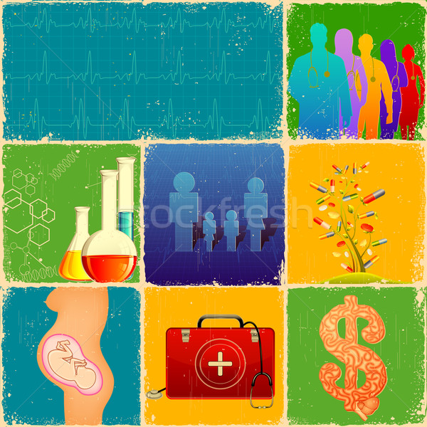 Medical Collage Stock photo © vectomart