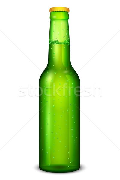 Bierfles illustratie witte ontwerp bar alcohol Stockfoto © vectomart