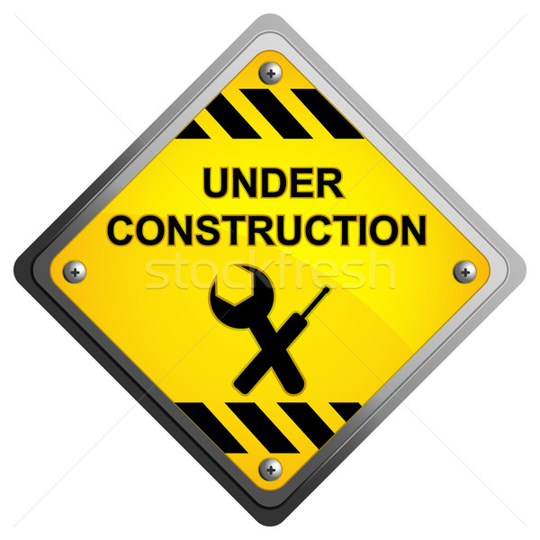 Under Construction Icon Stock photo © vectomart