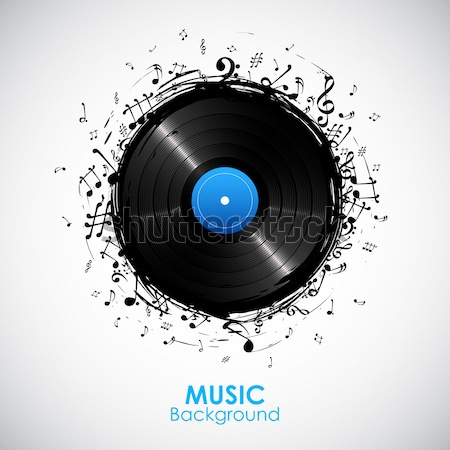 Musical Note from Disc Stock photo © vectomart