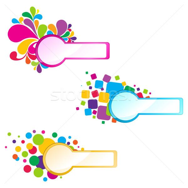 Floral cadre illustration coloré isolé design Photo stock © vectomart