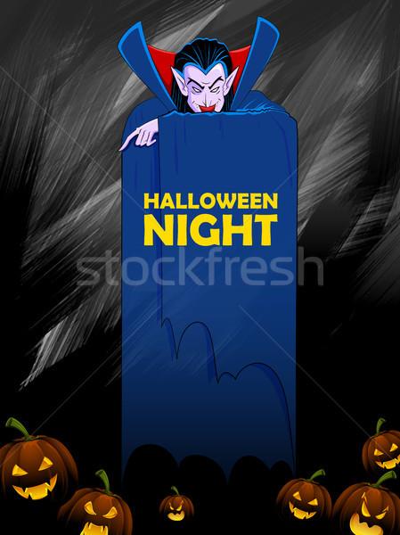 Drakula boldog halloween ünnep éjszaka ünneplés Stock fotó © vectomart